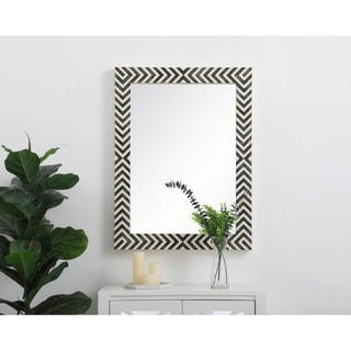 Rectangular Chevron Mirror