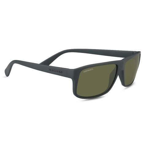Serengeti Claudio 61mm Polarized 555nm Sunglasses (Matte Dark Gray) - Large