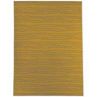 BERBER STRIPE MUSTARD GREY Area Rug By Kavka Designs