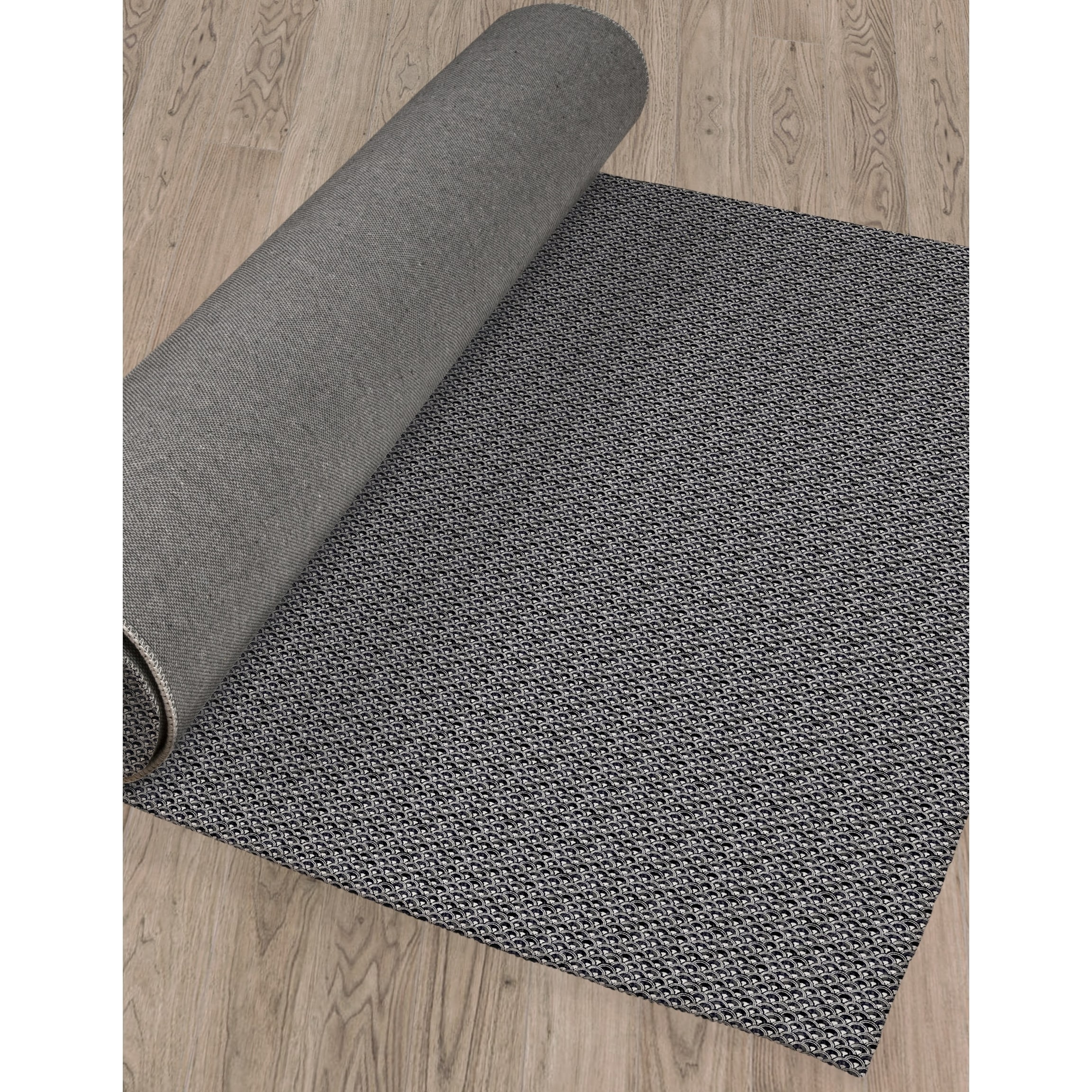 Fish Scales Bw Area Rug By Kavka Designs Overstock 28963006