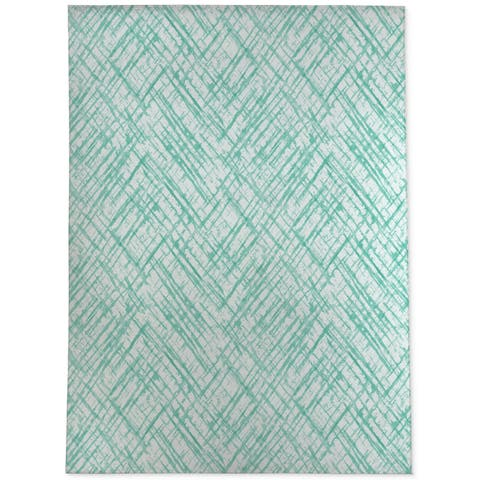 WATERCOLOR CRISS CROSS MINT Area Rug By Becky Bailey