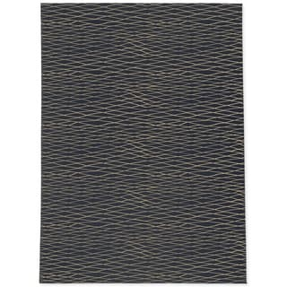 CHAIN LINK NAVY AND GOLD Area Rug By Kavka Designs