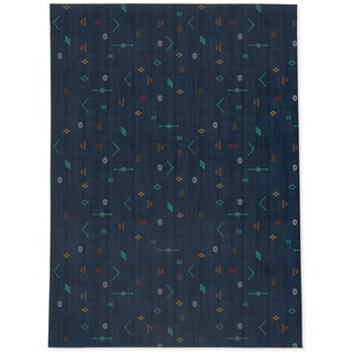 CACTUS SOFT NAVY Area Rug By Kavka Designs