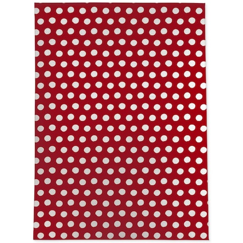 BIG POLKA DOTS RED Area Rug By Becky Bailey