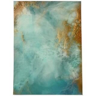 Silver Orchid Newlinsky Aqua/Gold Area Rug