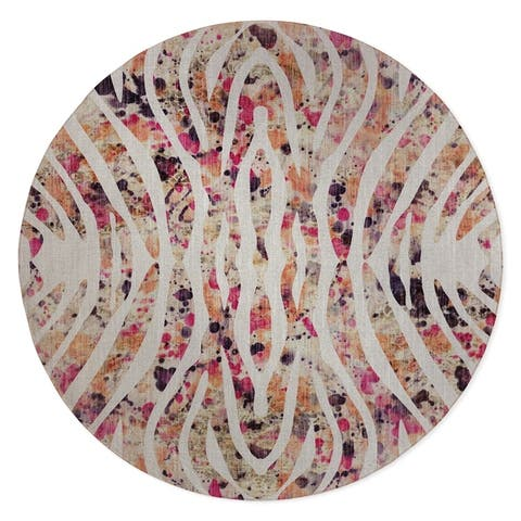 TIGER PINK Area Rug by Kavka Designs