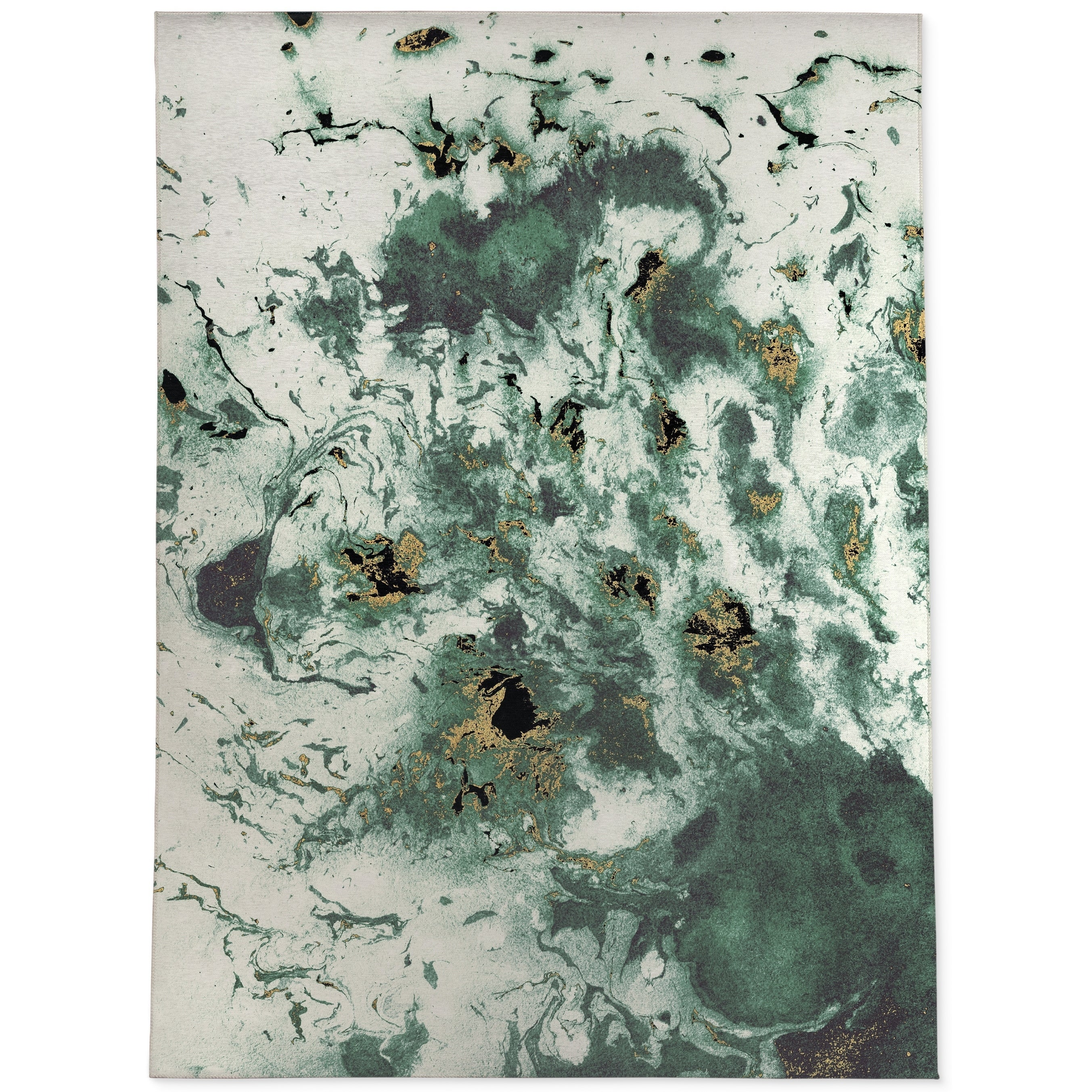 Marbled Green Area Rug By Kavka Designs On Sale Overstock 28963464