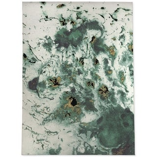 MARBLED GREEN Area Rug by Kavka Designs