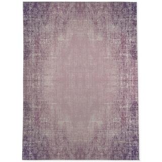 Porch & Den Praline Distressed Purple Abstract Area Rug