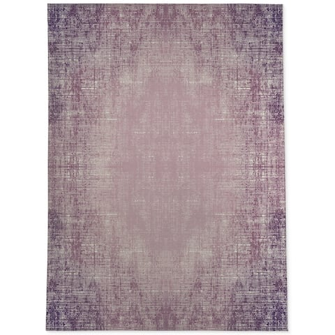 Porch & Den Praline Distressed Purple Abstract Area Rug