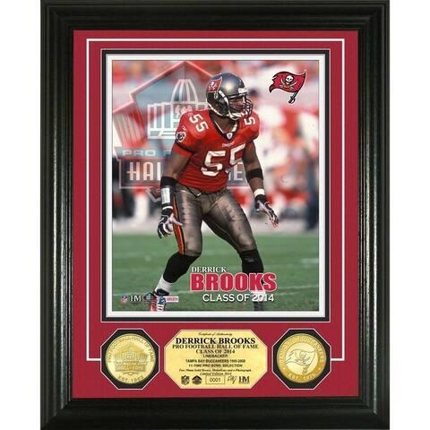Derrick Brooks 2014 NFL HOF Bronze Coin Photo Mint