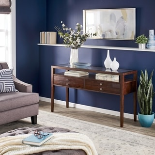 Link to Strick & Bolton Aristo Halifax Brown Console Table Similar Items in Living Room Furniture