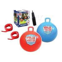 "American Ninja Warrior Bounce Ball Race Set- set of 2 -24"" Balls"