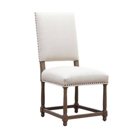 Lily's Living Light Beige Lomita Side Chair Nailhead Trim Without Armrests, 40.5 Inch Tall - 9' x 12'