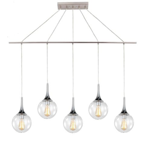 Woodbridge Lighting 19229NWL-C00815 Alicia 5-light Linear Pendant w/ ST64 Bulb