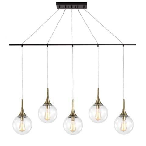 Woodbridge Lighting 19229ZWL-C00815 Alicia 5-light Linear Pendant w/ ST64 Bulb