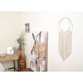 Metal Accented Macrome Wall Hanging