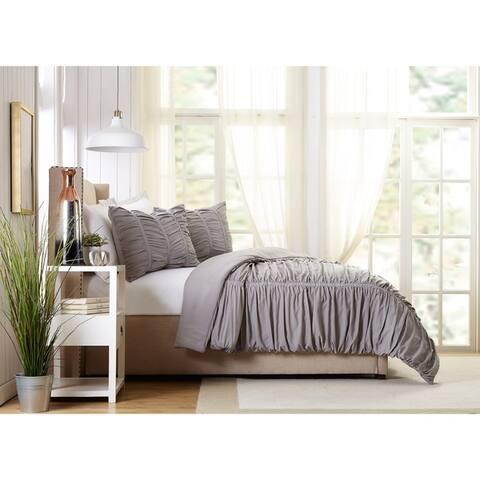 Emily Texture Twin/Twin XL Comforter set Light Gray