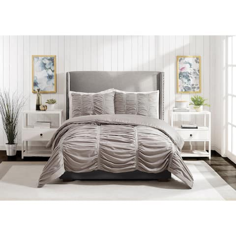 Emily Texture Twin/Twin XL Comforter set Light Gray