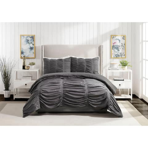Emily Texture Twin/Twin XL Comforter set Dark Gray