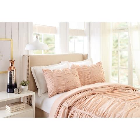 Emily Texture Twin/Twin XL Comforter set Blush