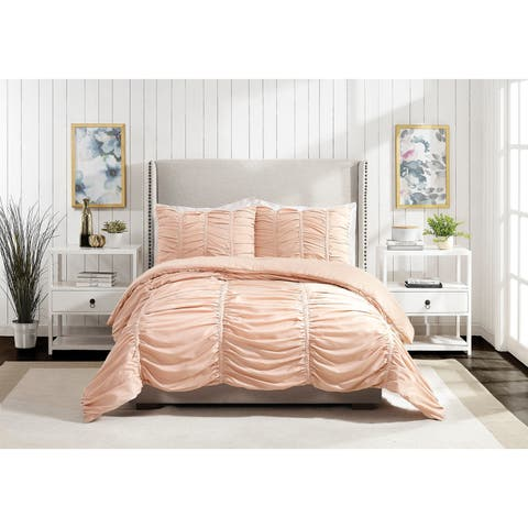 Emily Texture Twin/Twin XL Comforter set Blush