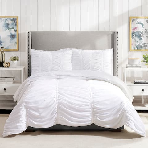 Emily Texture Twin/Twin XL Comforter set White