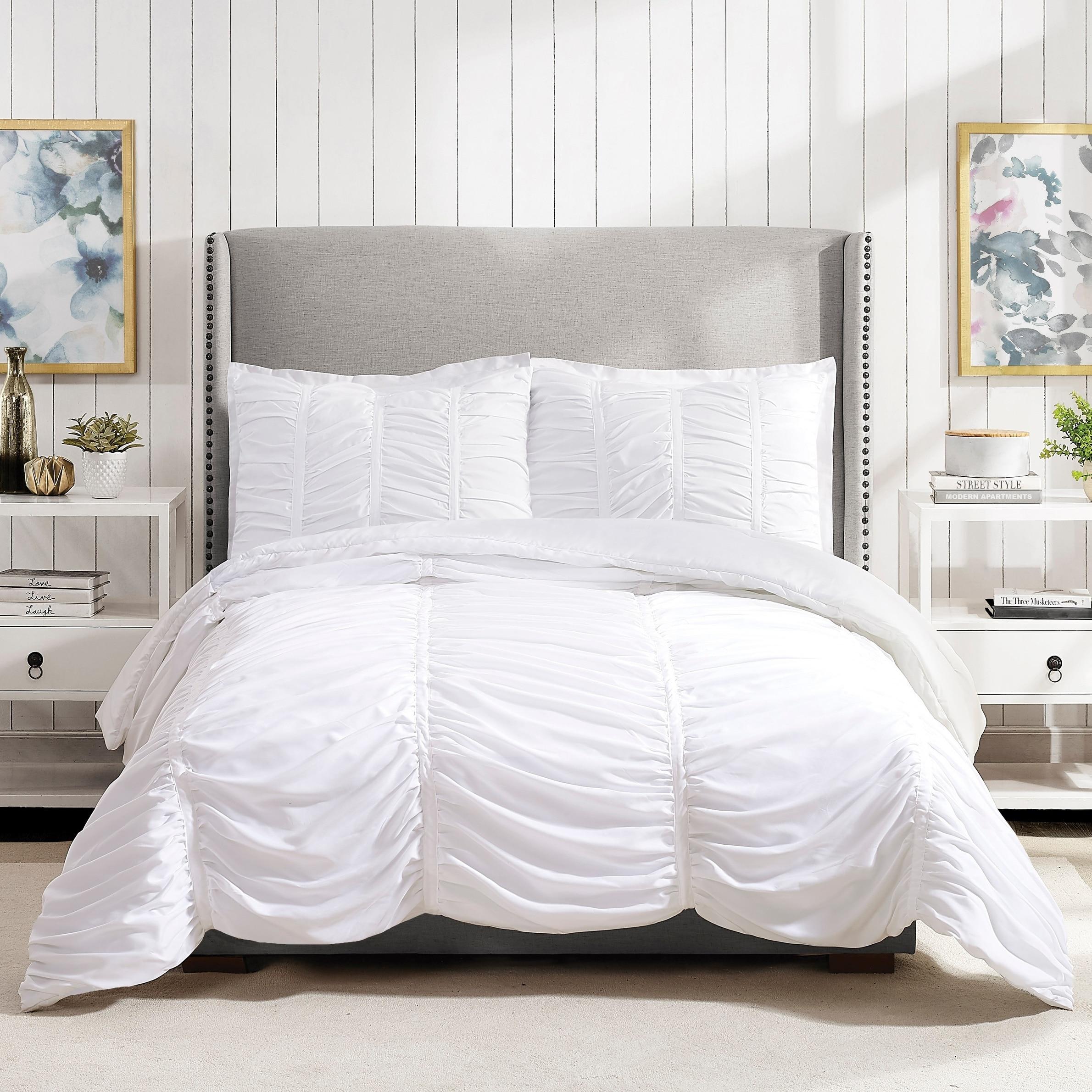 Shop Porch Den Pastern White Textured Twin Twin Xl Comforter Set