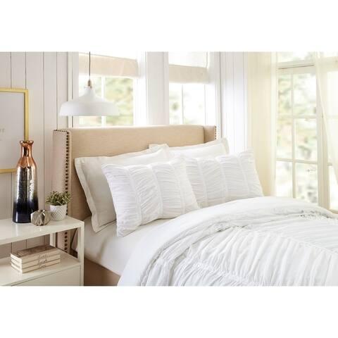 Porch & Den Pastern White Textured Twin/Twin XL Comforter Set