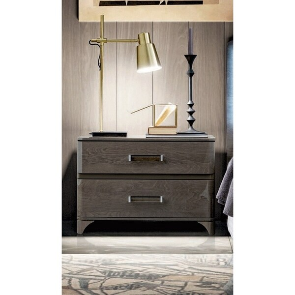Luca Home Silver Birch Double Nightstand