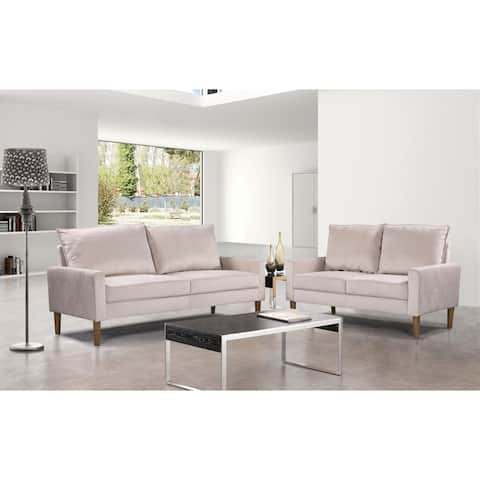 Ruiz Velvet Fabric Loveseat
