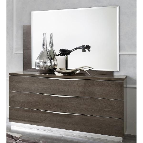 Luca Home Silver Birch Dresser Mirror Set