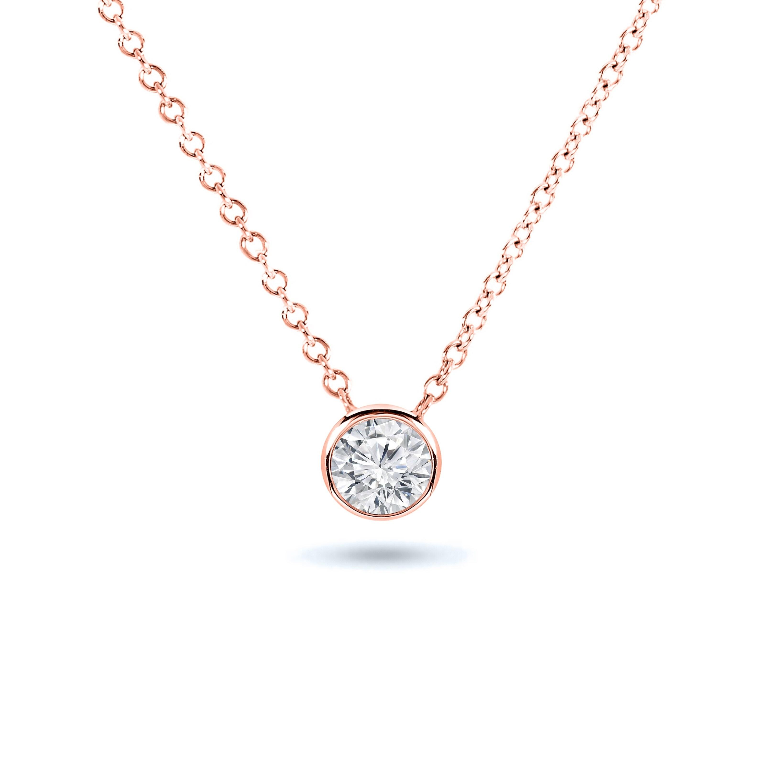 Chain Sparkling 4ct Created Brilliant Diamond Pendant
