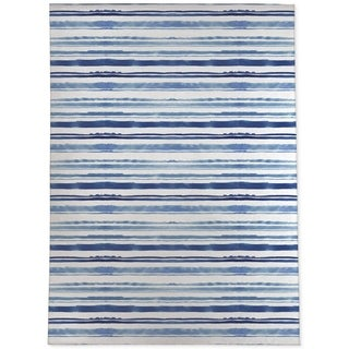 WATERCOLOR STRIPE BLUE Area Rug By Kavka Designs