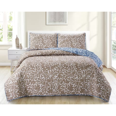 Harper Lane Payson Branches Reversible 3-piece Quilt Set