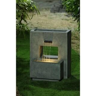 Link to Resin Gray Pedestal Outdoor Patio Fountain Similar Items in Outdoor Decor