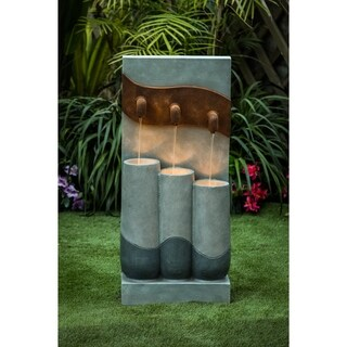 Link to Cement Modern Pots Outdoor Patio Fountain with LED Light Similar Items in Outdoor Decor