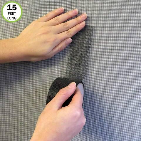 """Evelots Screen Repair Tape-Window/Door-Adhesive/Waterproof-180"""" -No Hole/Tear"""