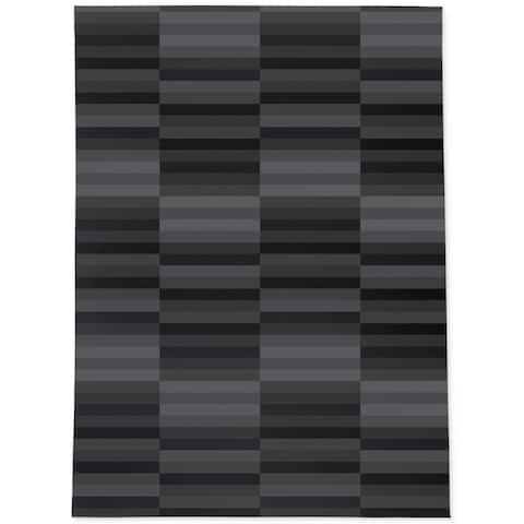 MID CENTURY STRIPE CHARCOAL Area Rug By Becky Bailey