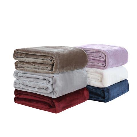 Linden Home Extra Soft Plush Bed Blanket