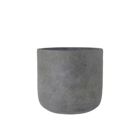 UTC53838: Terracotta Round Pot LG Rough Finish Dark Gray
