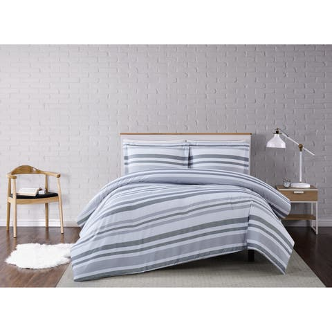 Truly Soft Curtis Stripe 3 Piece Comforter Set