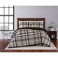 Truly Soft Paulette Plaid 3 Piece Comforter Set