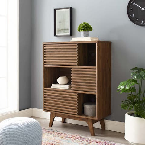 Render Three-Tier Display Storage Cabinet Stand