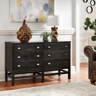 Strick & Bolton Henry 6-drawer Sicilian Black Dresser
