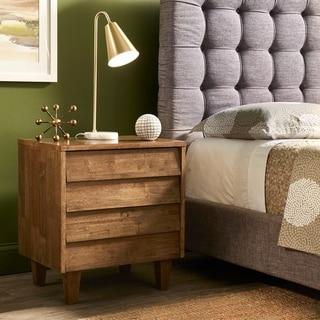 Carson Carrington Venetian Brown/Grey 2-drawer Mid-century Style Nightstand