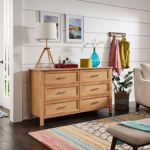 Copper Grove Olympus Natural 6-drawer Dresser