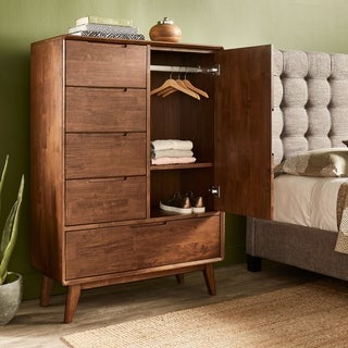 Carson Carrington BERNADETTE 1 DOOR 5 DRAWER ARMOIRE
