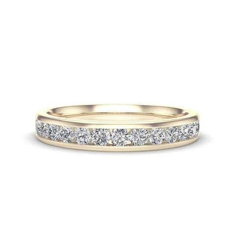 Noray Designs 14K Gold Diamond (0.45 Ct, G-H Color, I1-I2 Clarity) Channel Set Wedding Band