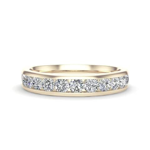 Noray Designs 14K Gold Diamond (0.65 Ct, G-H Color, I1-I2 Clarity) Channel Set Wedding Band